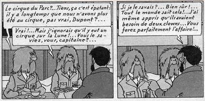 Cirque d'Hipparque, cirque du parc, Tintin on a marché sur la lune