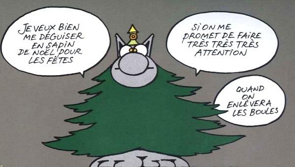 Le chat Noel par Geluck