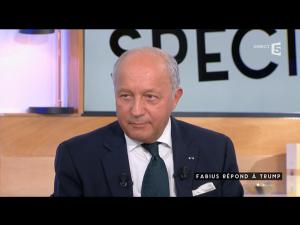 Laurent Fabius à C'est à vous sur France 5